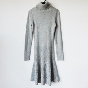 2 piece gray sweater dress by MODA international